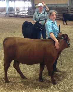 Jammy & I waiting to line up for her class, Jr. Yearling Heifer.